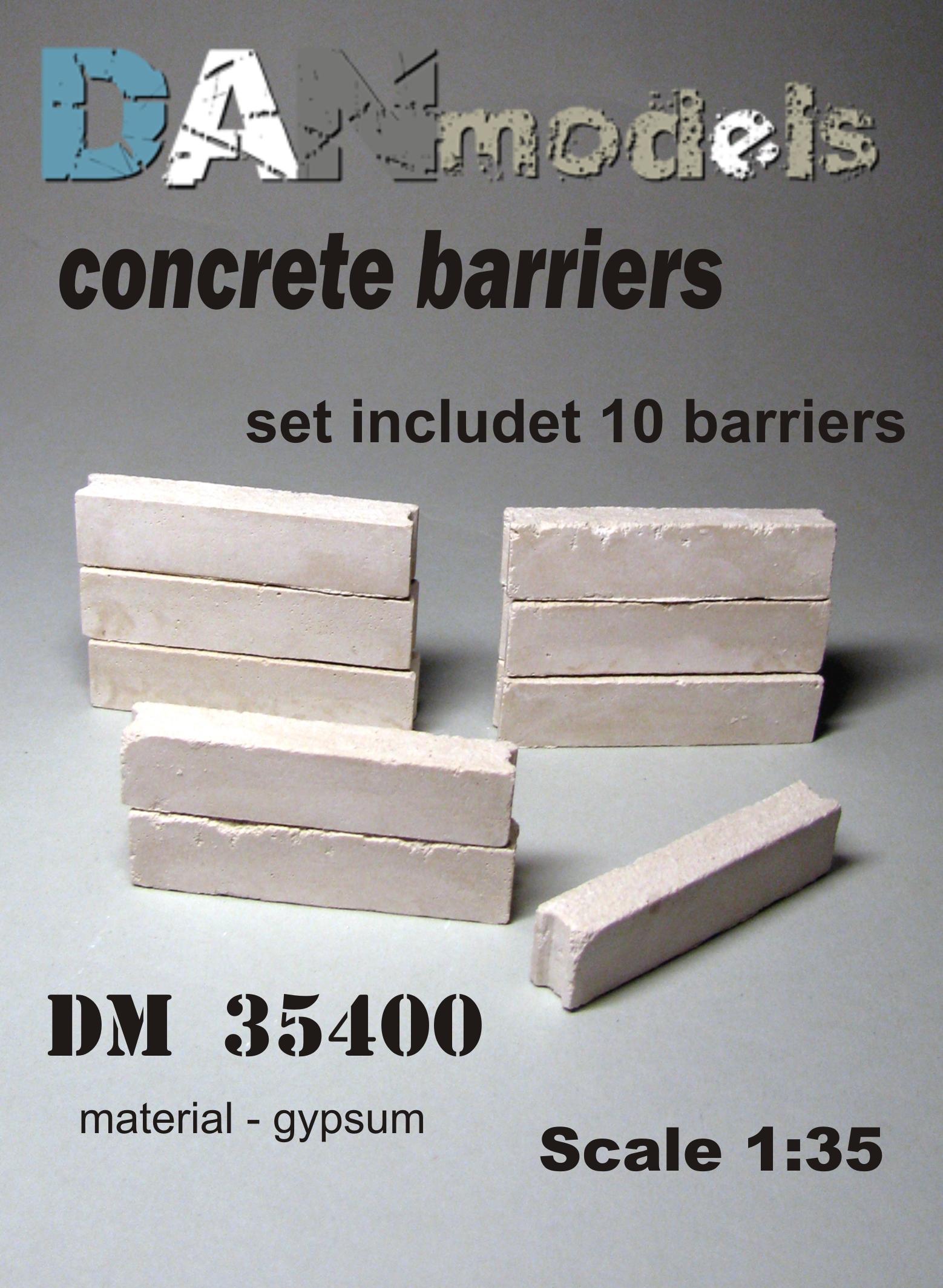 DM 35400 concrete barriers