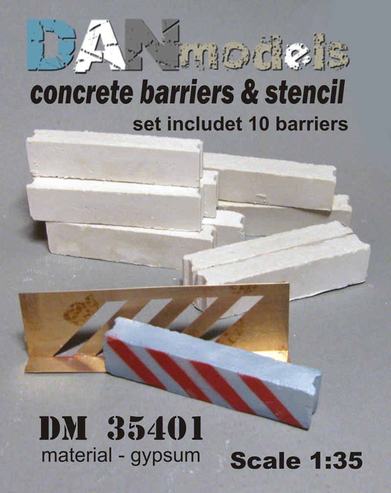 DM 35401  concrete barriers & stencil