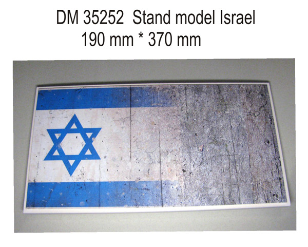 DM 35252 Stand model for 1/35 Israel theme, 190x370mm
