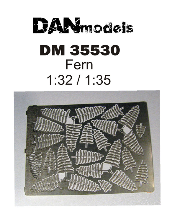DM 35530  Fern 1/32  1/35  size 95*70 mm