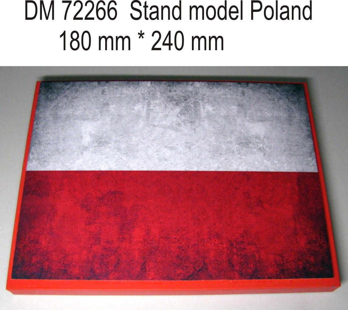 DM 35266  Stand model for 1/72 , 1/48  Poland theme, 240x180mm