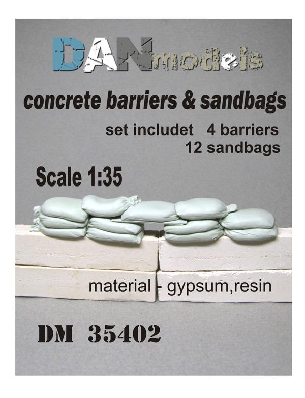 DM 35402 concrete barriers & sandbads