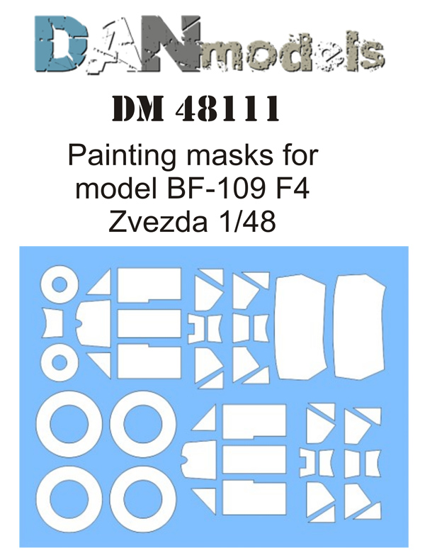 DM 48111   Painting masks for model BF-109 F4 Zvezda 1/48