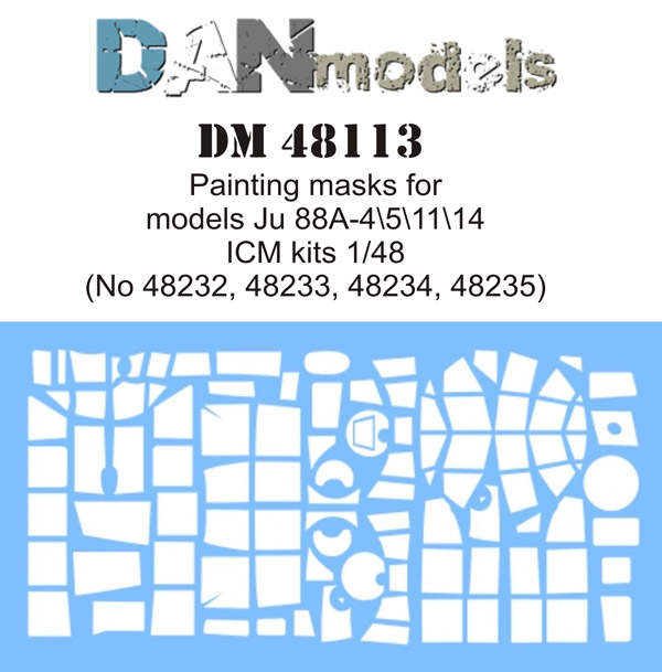 DM 48113  Painting masks for model Ju 88A-4\5\11\14 ( ICM 48232, 48233, 48234, 48235 )