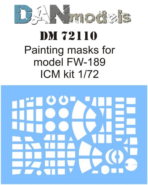 DM 72110   Painting masks for model FW-189 ( ICM 72291-72294 )