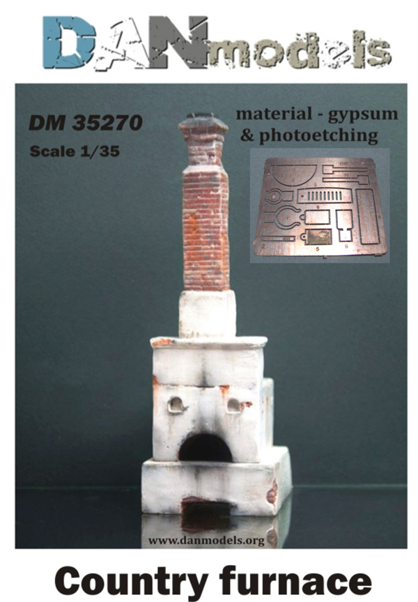 DM 35270 Country furnace. material — gypsum  & photoetching