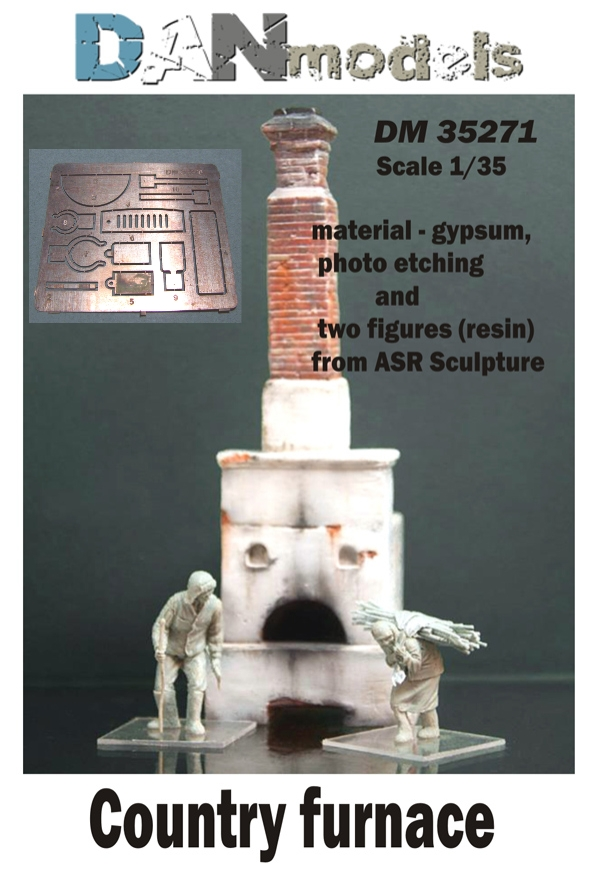DM 35271 Country furnace. material — gypsum  & photoetching and  two figures (resin) from ASR Sculpture