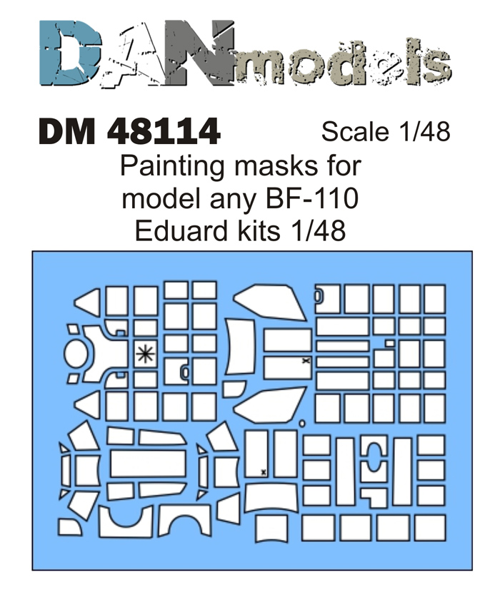 DM 48114 Painting masks for model any BF-110 Eduard kits 1/48