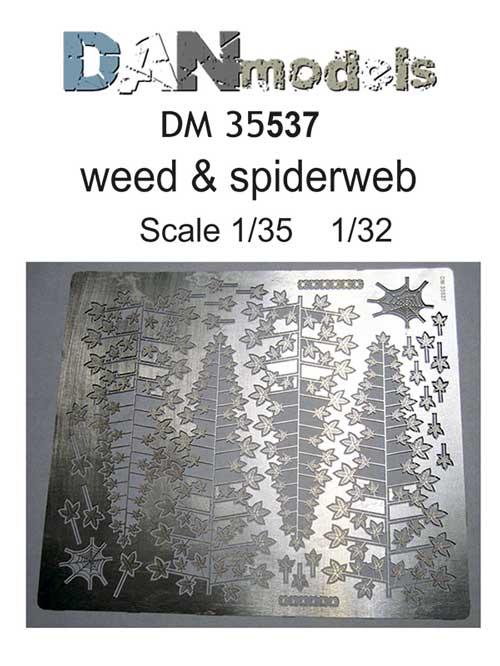 DM 35537 Photo-etched set weed & spiderweb