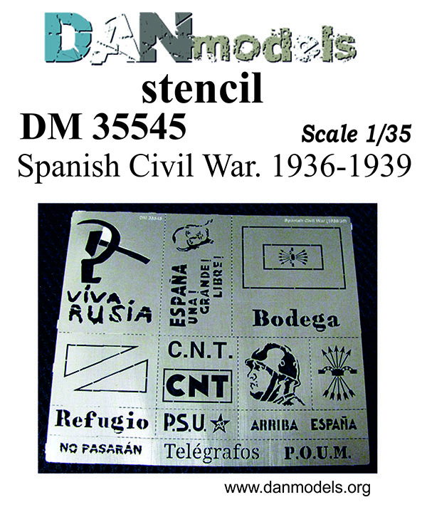 DM 35545 Stencil. Spanish Civil War. 1936-1939