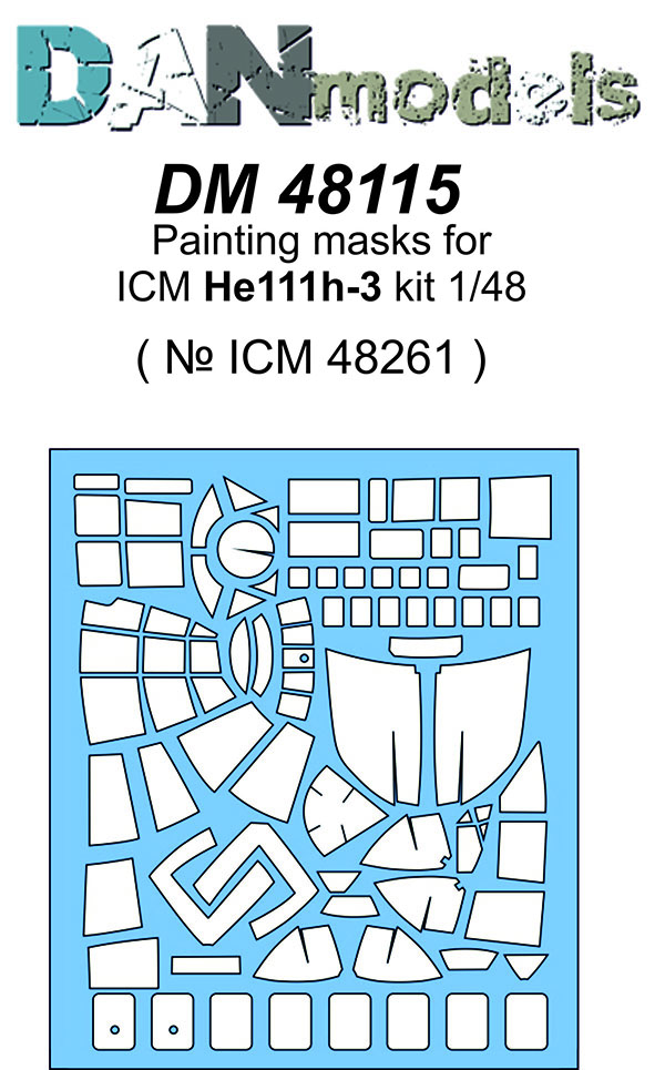 DM 48115 Painting masks for ICM He111 H-3 kit  ( ICM 48261 )