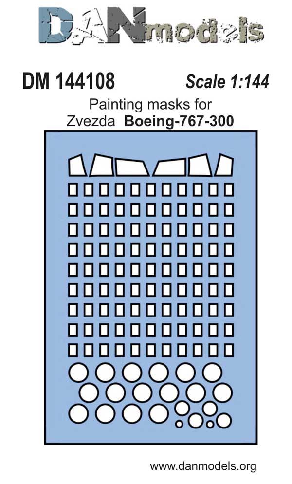 DM 144108  Painting masks for Zvezda  Boeing-767-300