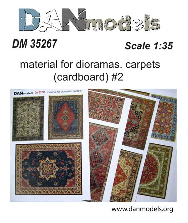 DM 35267 Material for dioramas. Carpets (cardboard) 1/35 #2