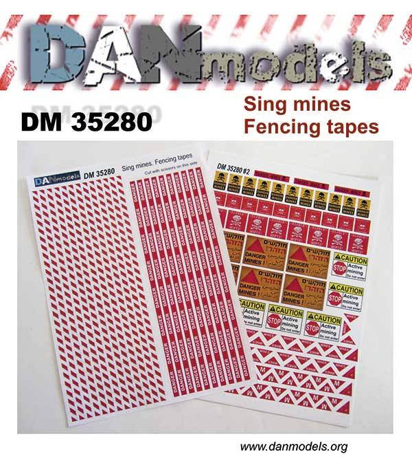DM 35280 Sing mines.Fencing tapes. Scale 1/35