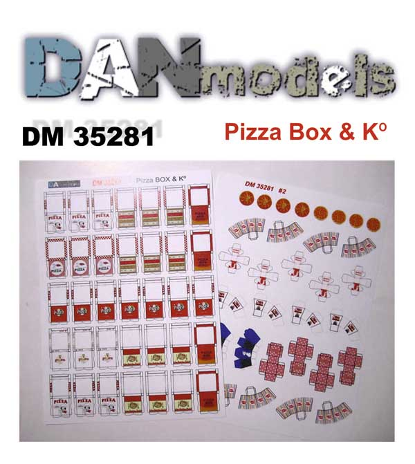 DM 35281 Pizza box & K*. Scale 1/35