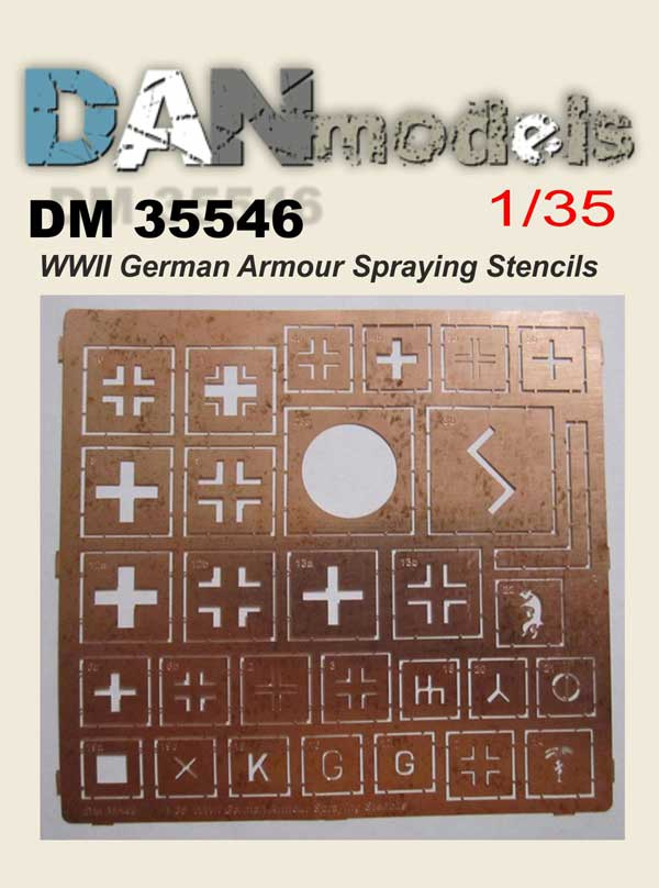 DM 35546 WW2 German Armour Spraying Stencils