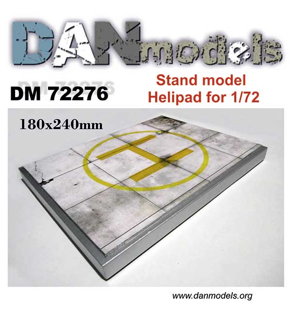 DM 72276 Stand modedl. Helipad for 1/72