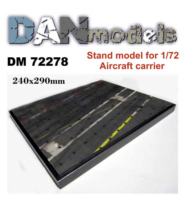 Dm 72278 Stand model. Aircraft carreier.240*290mm .1/72