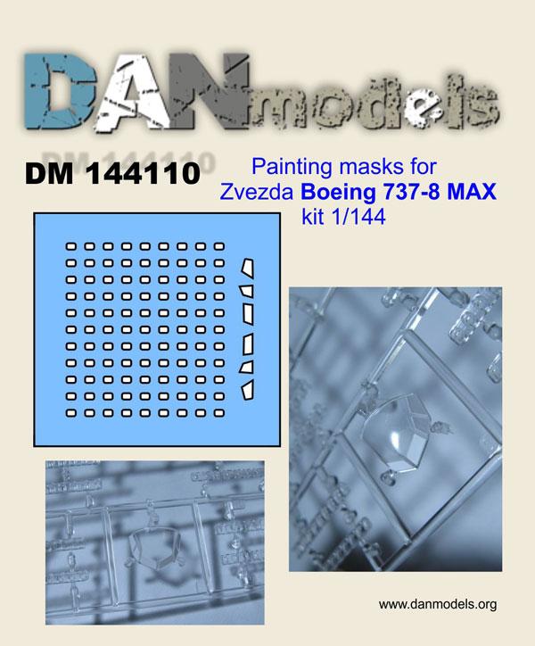 DM 144110 Painting masks for Zvezda Boeing 737-8 MAX