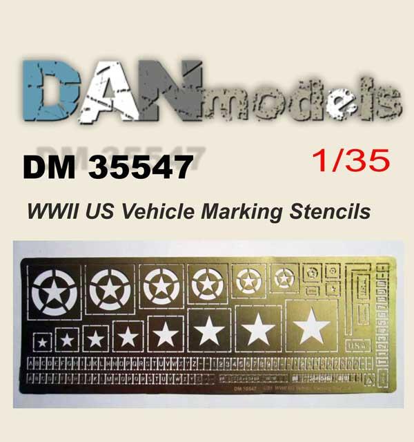 DM 35547 WW2 US Vehicle Marking Stensils