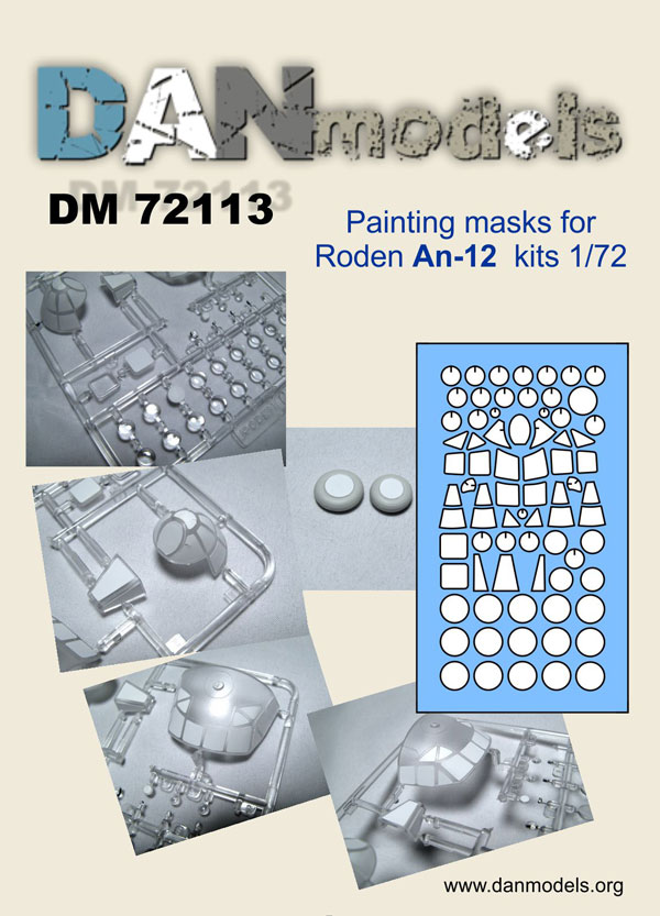 DM 72113 Painting masks for Roden An-12 kits 1/72