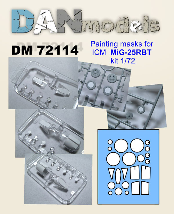 DM 72114 Painting masks for ICM MiG'25RBT kit 1/72
