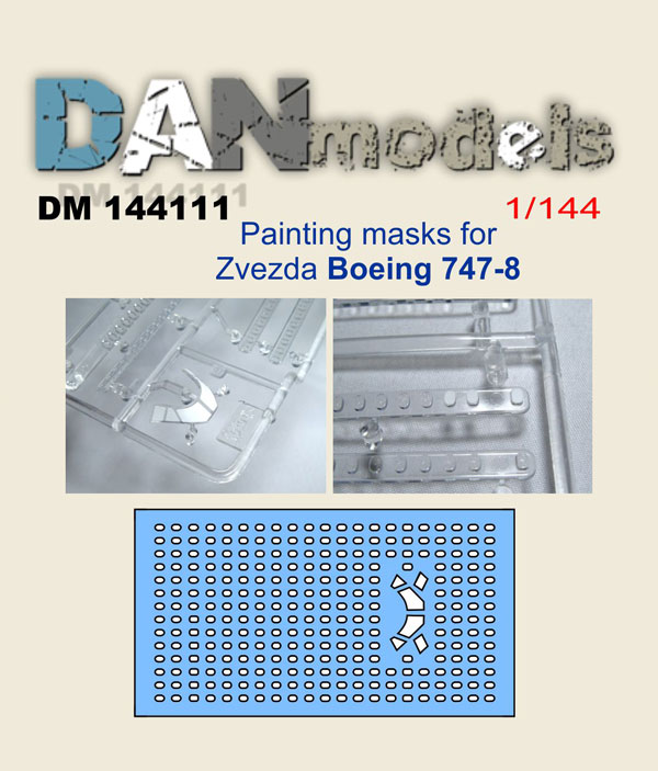 DM 144111 Painting masks for Boeing 747-8 (zvezda)