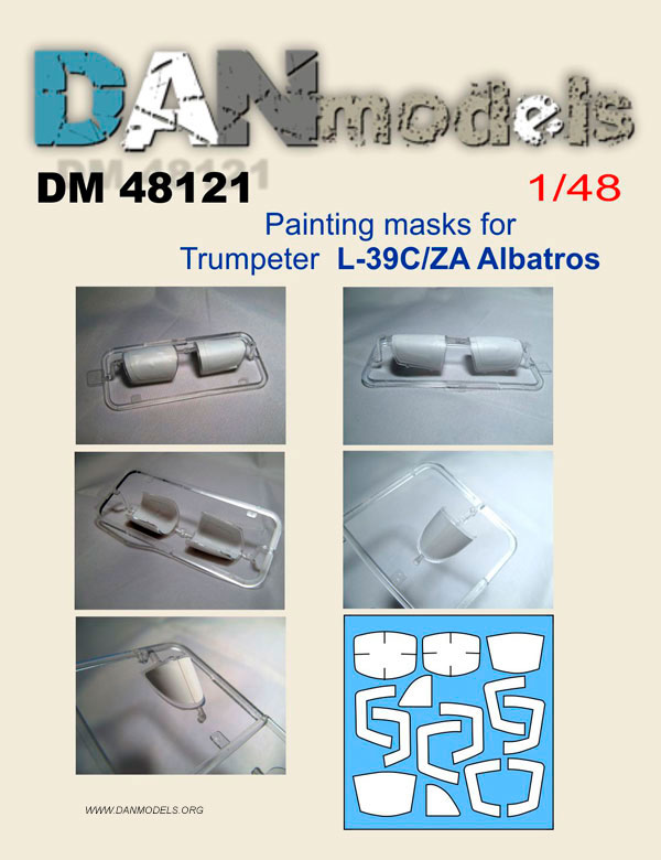 DM 48121 Painting masks for L-39 C/ZA Albatros (Trumpeter)