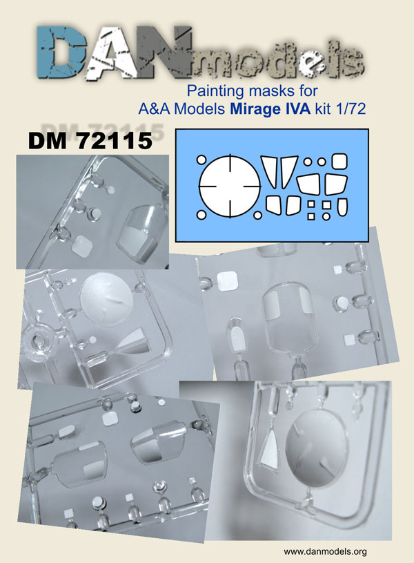 DM 72115  Painting masks for A&A Mirage IVA   1/72