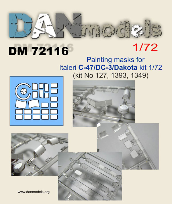 DM 72116 Painting masks for Italeri C-47 / DC-3 Dakota kit 1/72