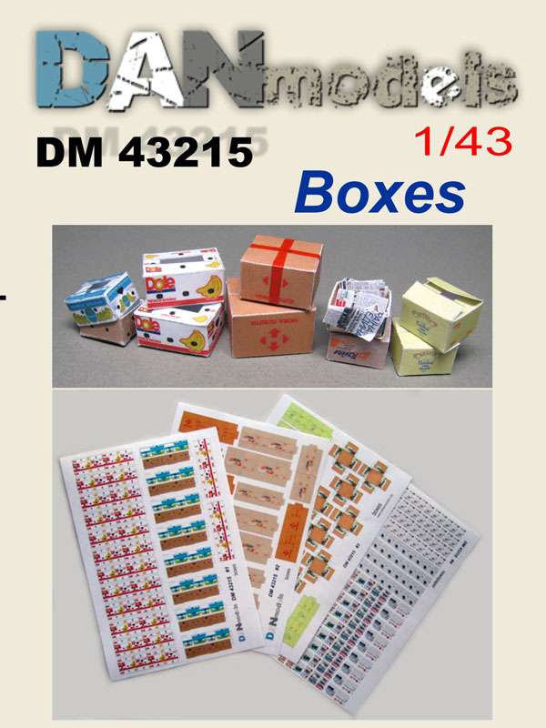 DM 43215  Boxes #1 . Scale 1/43