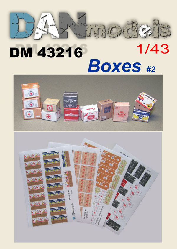 DM 43216  Boxes #2 . Scale 1/43