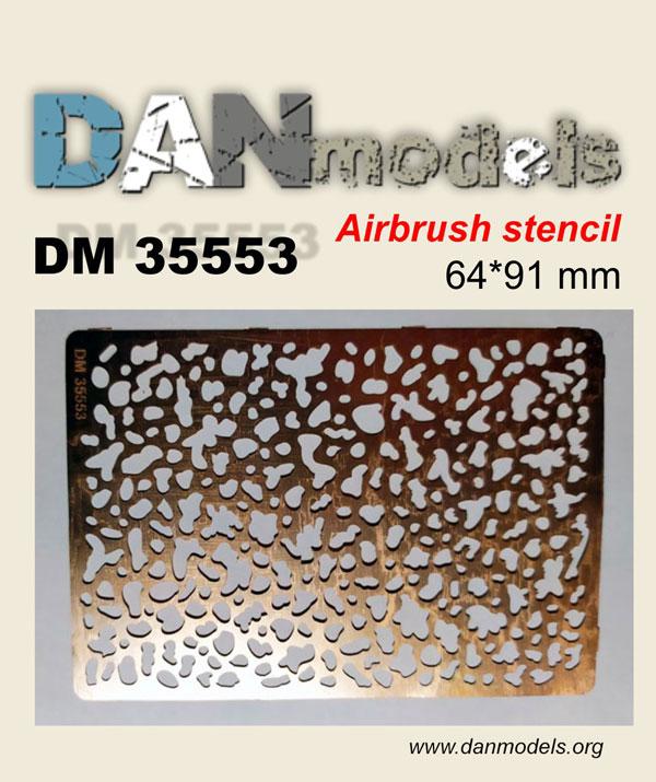 DM 35553 Airbruch stencil 64*91 mm