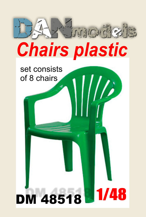 DM 48518  chairs are plastic. Set of 8 pcs. resin. 3D printing