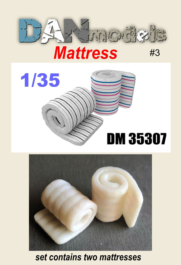 DM 35307. material for dioramas. Twisted mattresses. Set number 3. in a set of 2 mattresses. Resin 3D