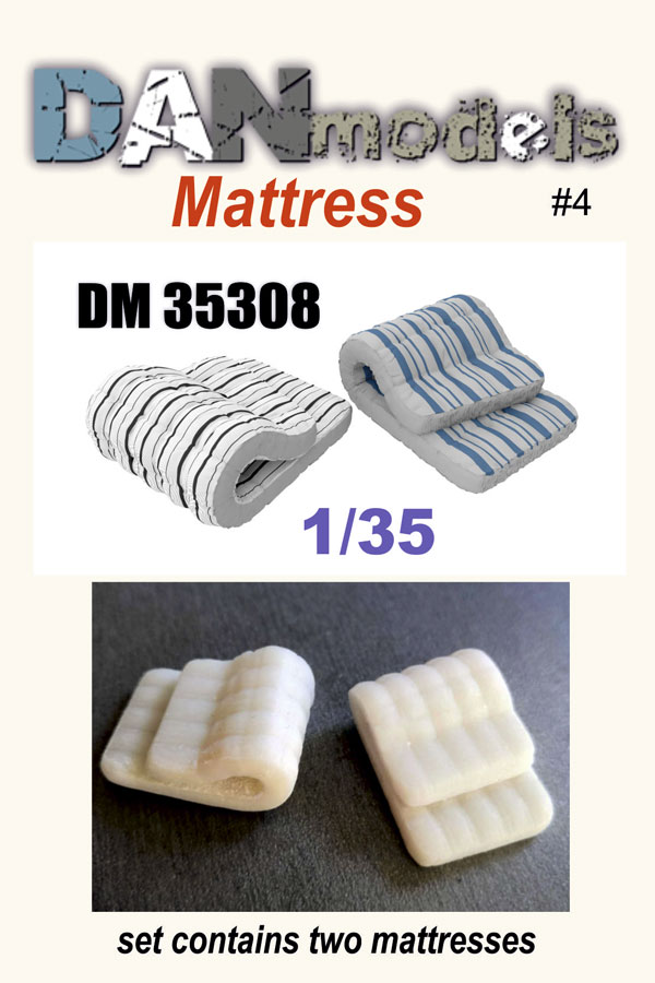 DM 35308. material for dioramas. Folded mattresses. Set number 4. in a set of 2 mattresses. Resin 3D